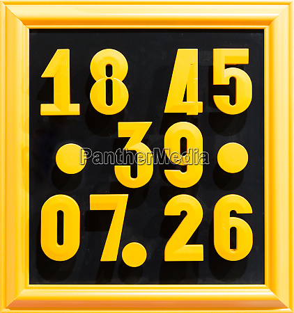 collection of colorful numbers