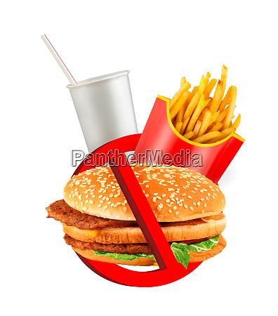 fast-food-gefahrenetikett - 28095998