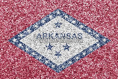 flagge von arkansas auf mohn