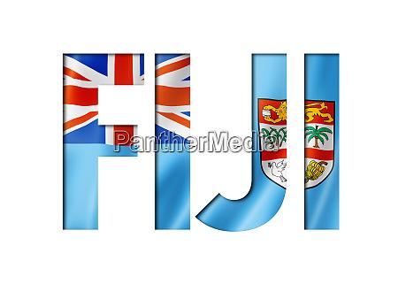 fidschi flagge textschriftart