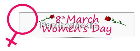 dekorative internationale frauentag banner 8