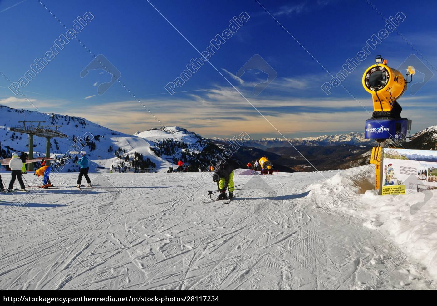 skifahren, in, südtirol - 28117234