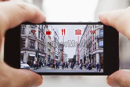augmented reality auf einem smartphone