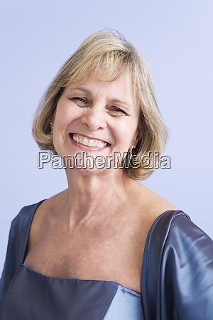 portrait of a smiling mature woman