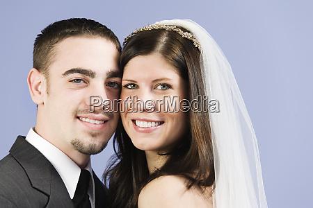 portrait of smiling couple
