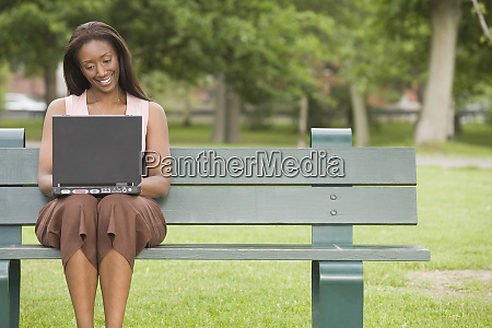 mid adult woman sitting on a