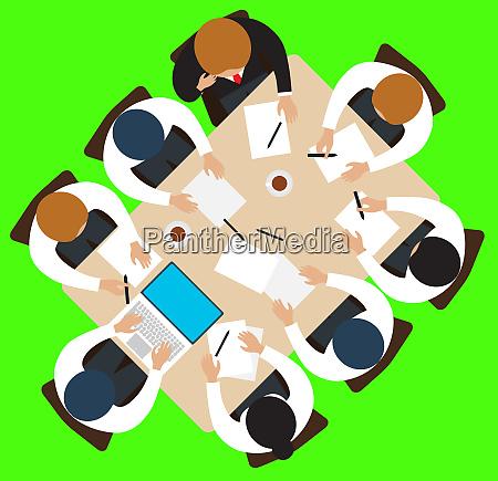 meeting strategie teamwork round table diskutieren