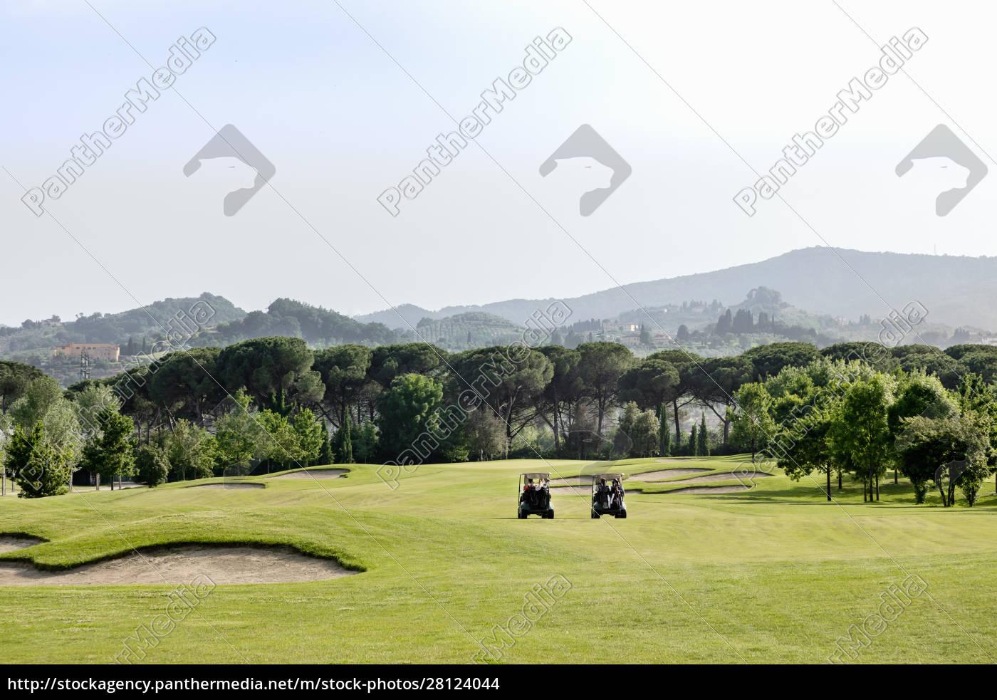 buggys, auf, dem, golfplatz - 28124044