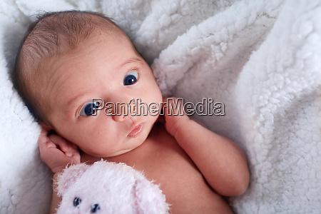 nahaufnahme niedlichen neugeborenen baby