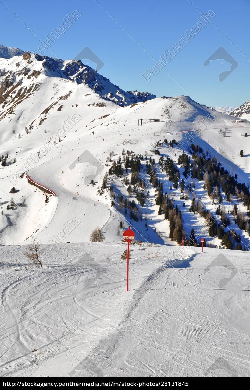 skifahren, in, südtirol - 28131845