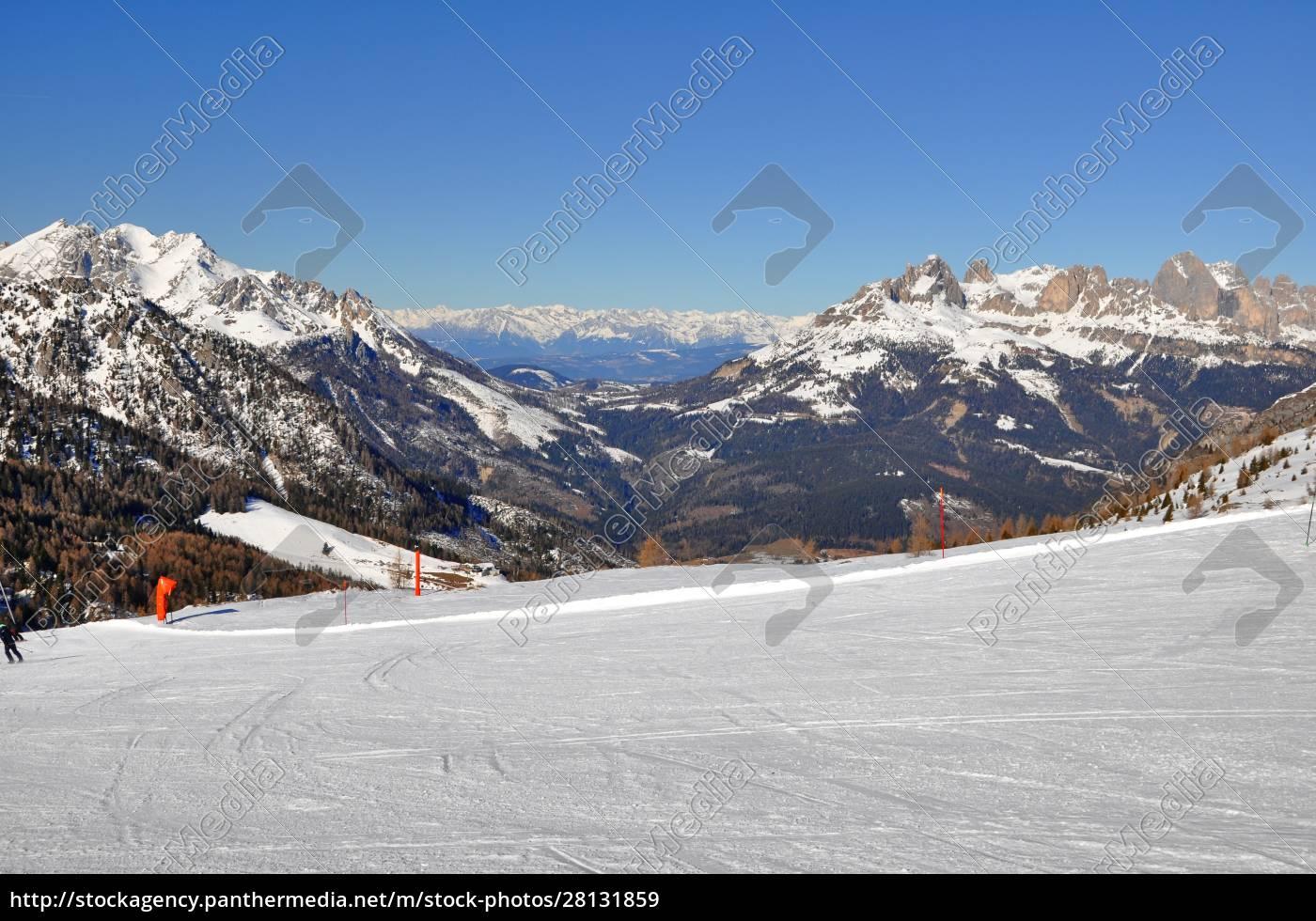 skifahren, in, südtirol - 28131859