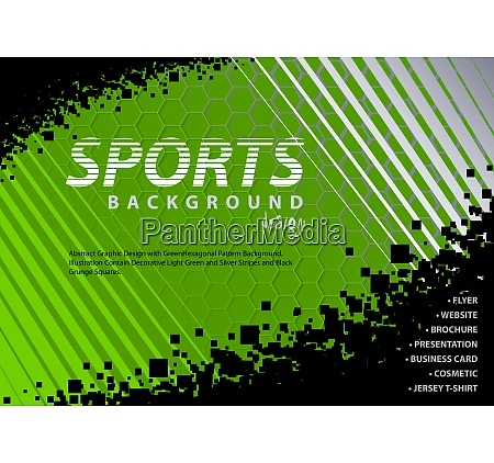abstract green black background in sport