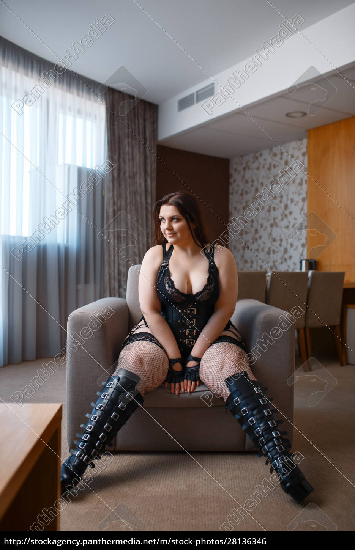 fat, perverse, woman, poses, in, erotic - 28136346