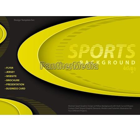 yellow black background in sport design
