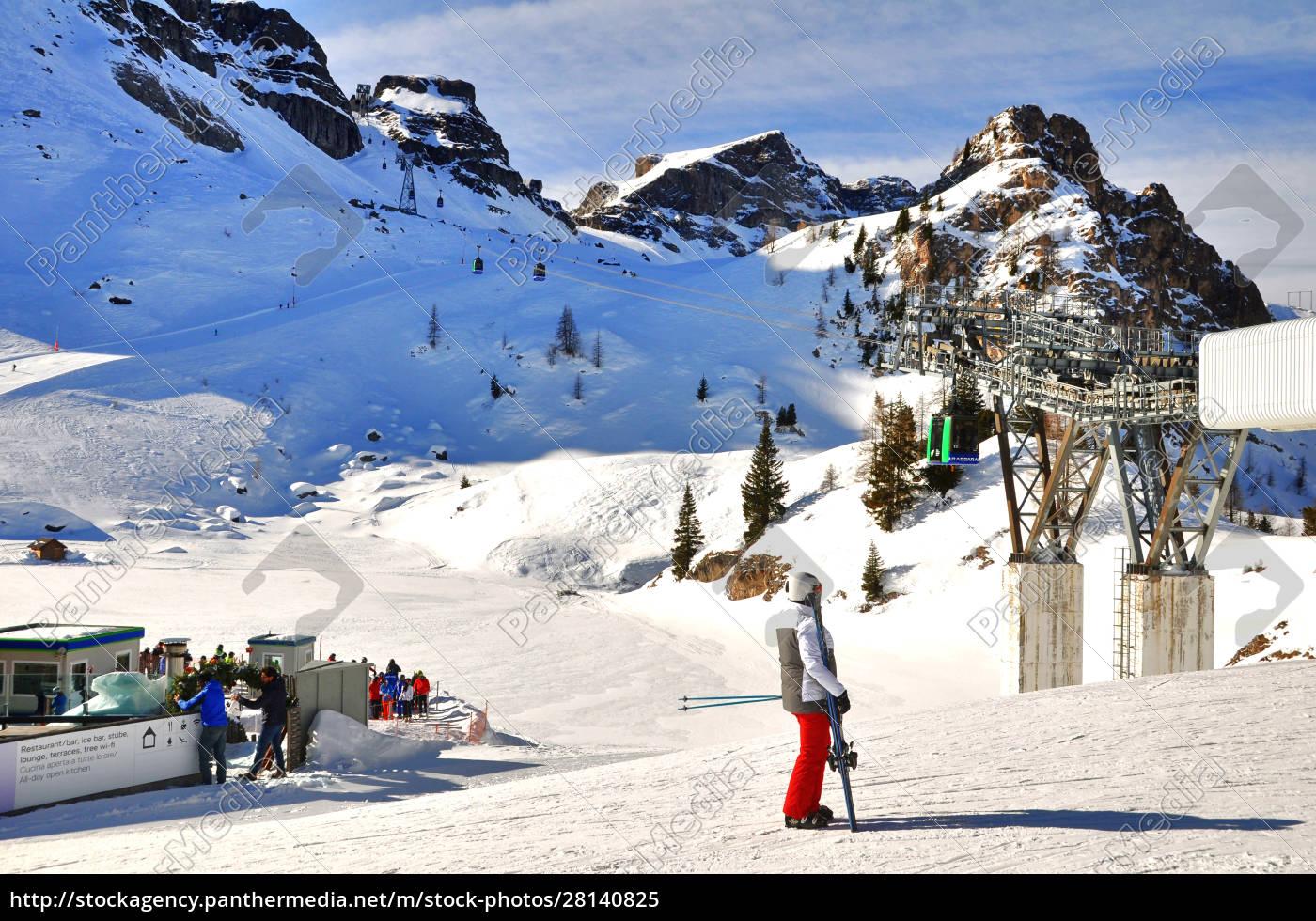 skifahren, in, südtirol - 28140825