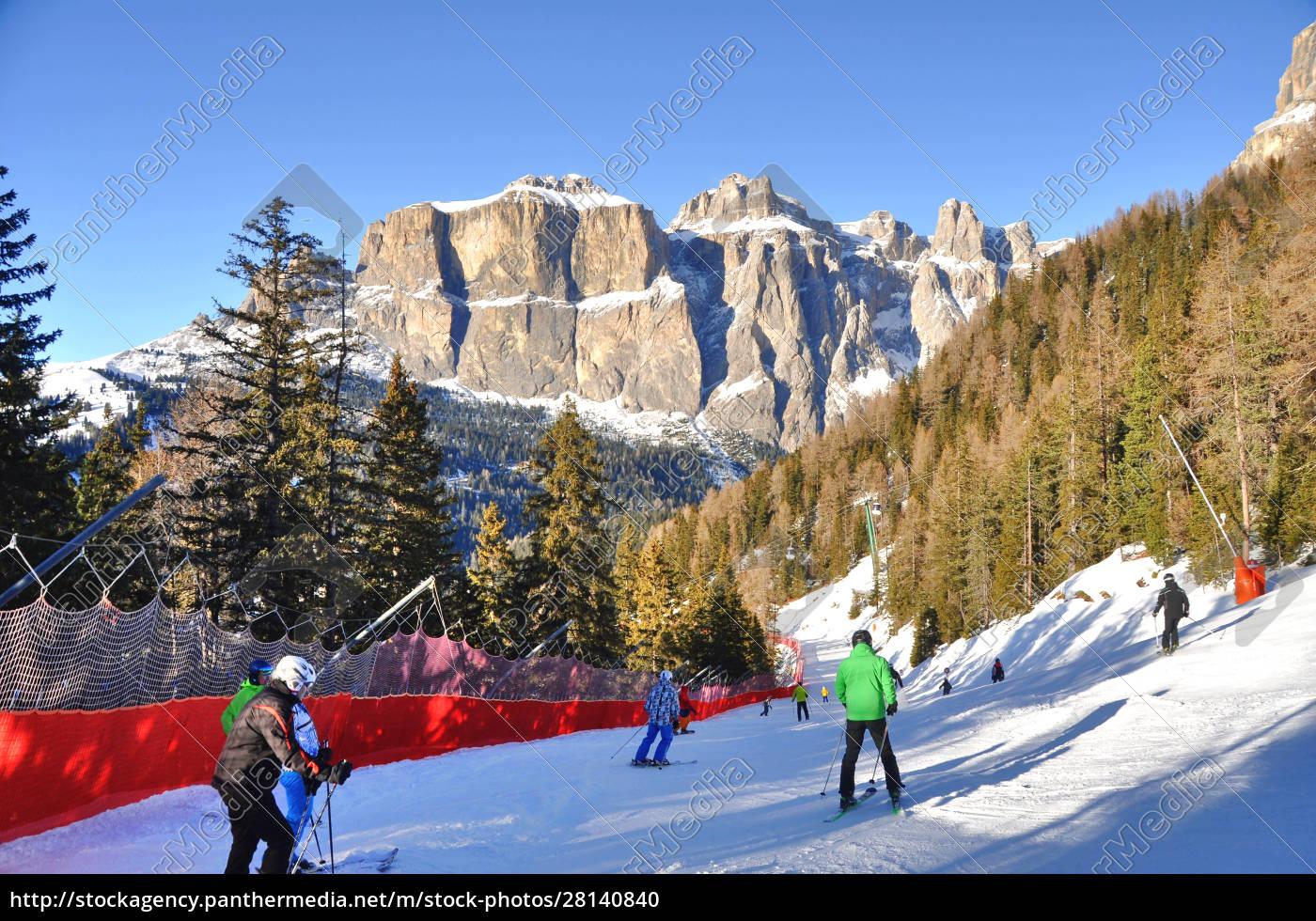 skifahren, in, südtirol - 28140840