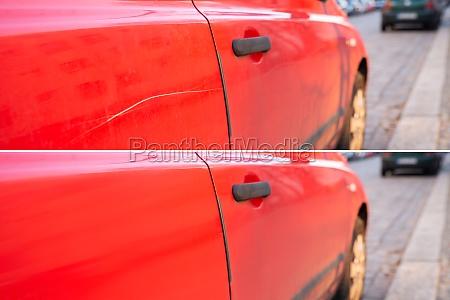 auto kratzer reparatur vor und nach