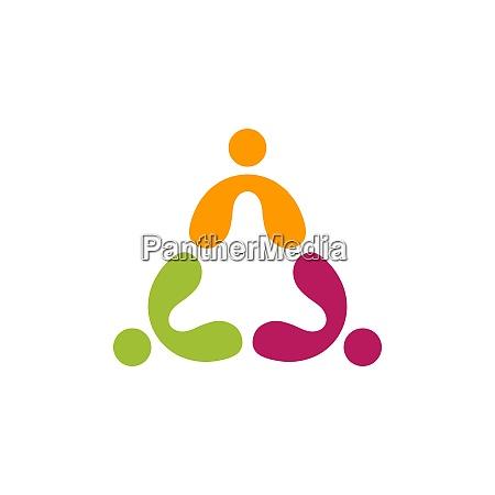 menschen teamwork logo bildung gruppe symbol