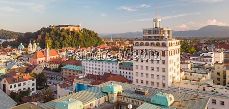 cityscape of ljubljana capital of slovenia