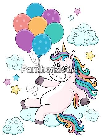 unicorn with balloons topic image 1