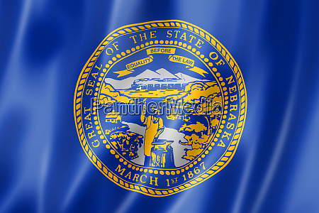 nebraska flag vereinigte staaten von amerika