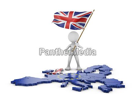 mann mit flagge von grossbritannien