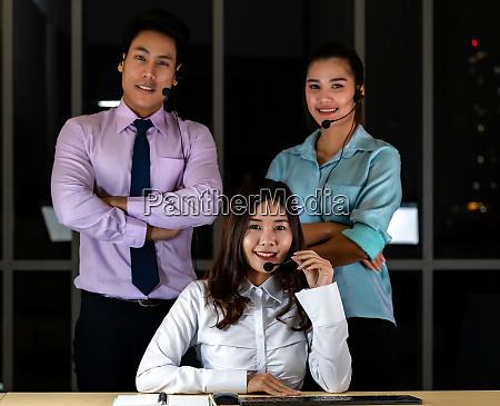callcenter team portrait