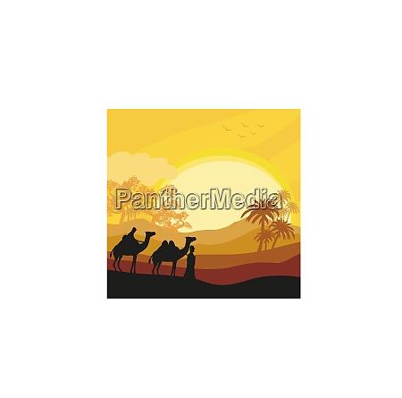 beduinen kamel karawane in wilden afrika