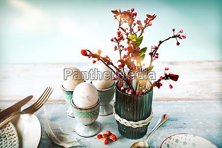 osterfruehstueck dekoration