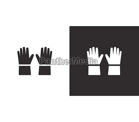 gloves isolated icon on black and