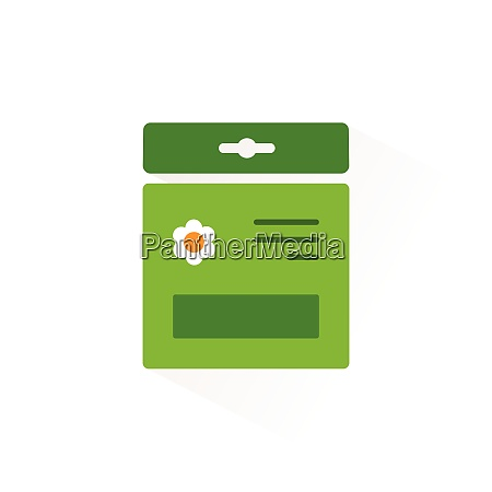 seed bag isolated color icon gardening