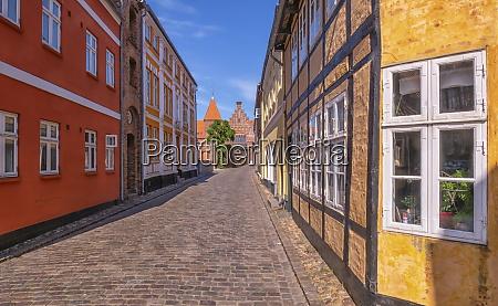 strasse in der mittelalterlichen stadt ribe