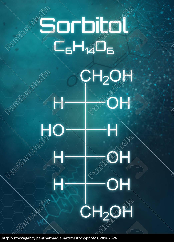chemische, formel, von, sorbitol, auf, einem - 28182526