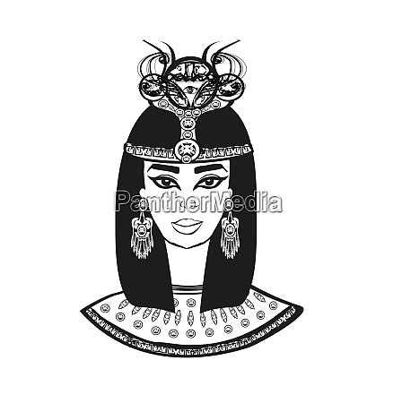 portraet der schoenen aegyptischen frau