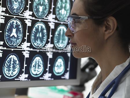 neurologie diagnose menschliches gehirn scan auf