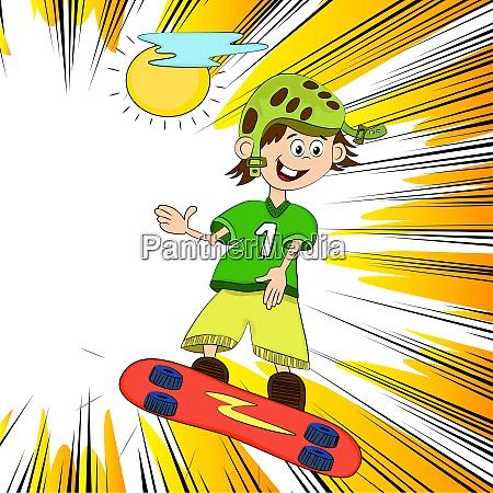 skateboarding junge