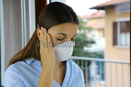 covid 19 pandemic coronavirus sick woman