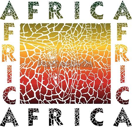 bunte hintergrund giraffe und text afrika