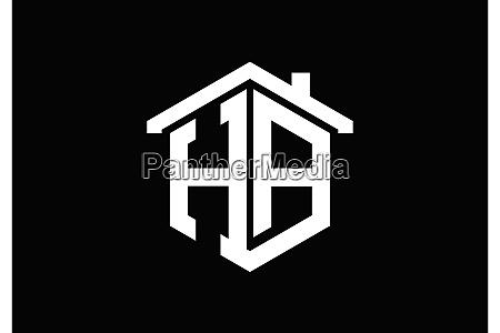 h a ha initial letter logo