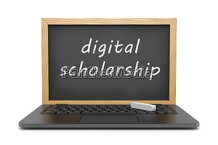 digitales stipendium online lektionskonzept