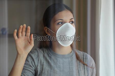 covid 19 pandemic coronavirus woman quarantine