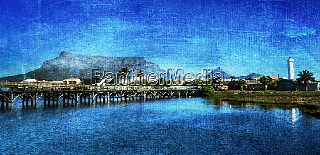 landscape with the milnerton lagoon and