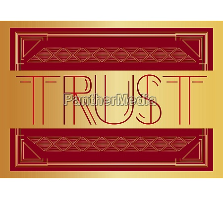 art deco trust text
