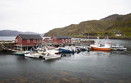 kleiner fischereihafen am nordkap
