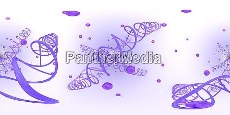 3d illustration der dna desoxyribonukleinsaeurestruktur equirectangular