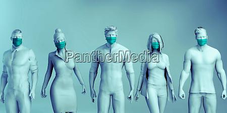 medizinisches personal im gesundheitswesen