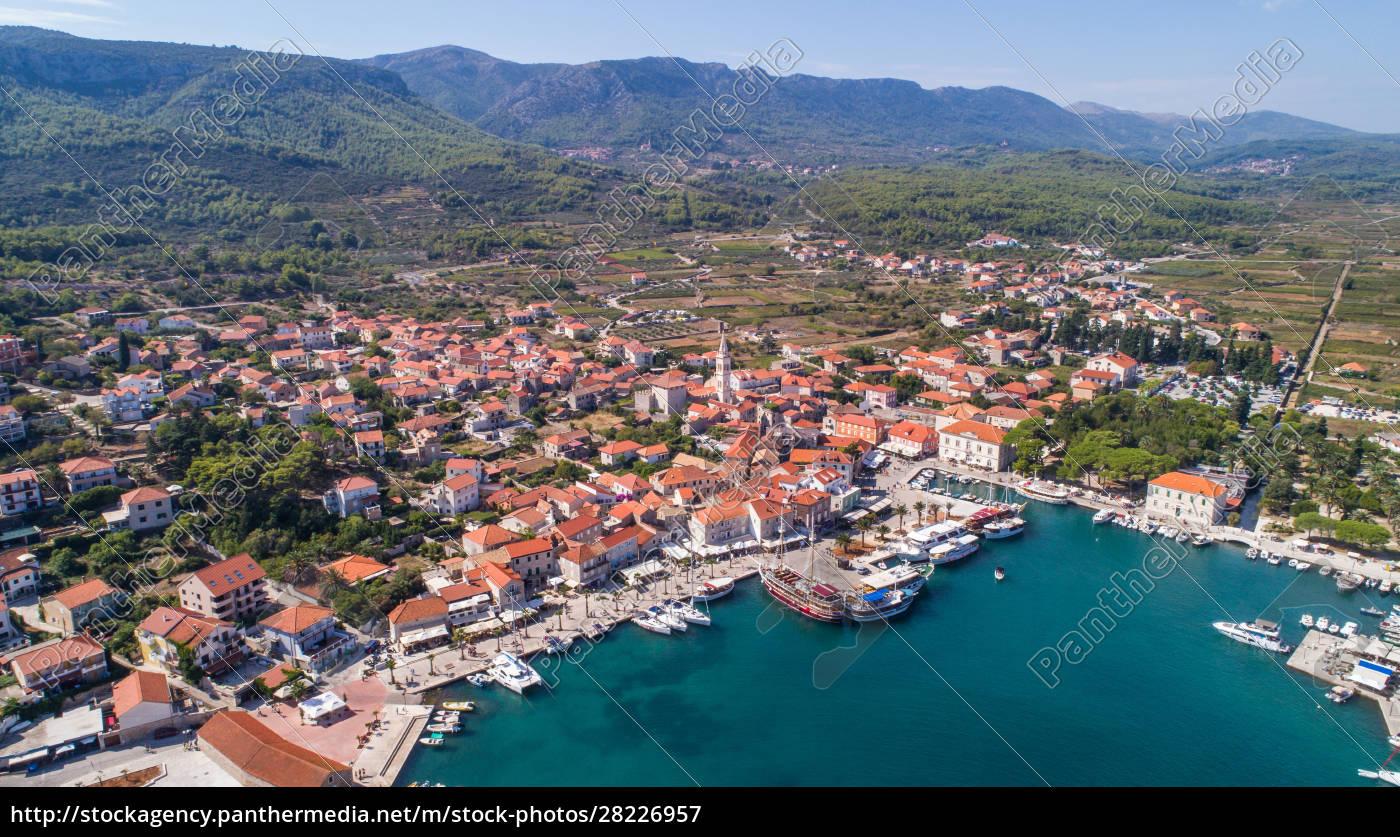 aerial, view, of, jelsa, on, hvar - 28226957
