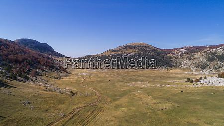 aerial view of dinara landscape near