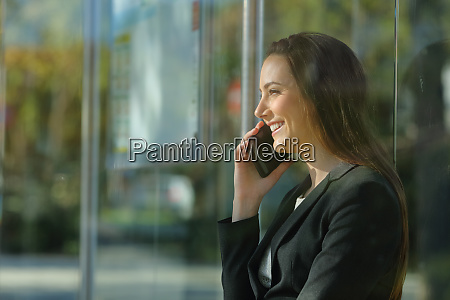 executive woman talking on smart phone