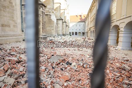zagreb, von, erdbebengeschädigter, kathedrale, getroffen - 28228807